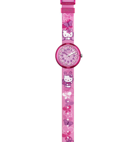 RELOJ HELLO KITTY BUTTERFLY FLIK FLAK NIÑA