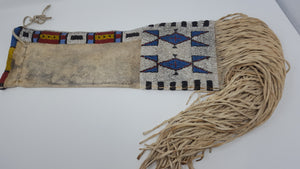 antique Sioux Native American pipe bag