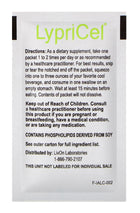 LypriCel Acetyl L-Carnitine - 30 Packets, 0.2 fl oz (5.4 ml) Each