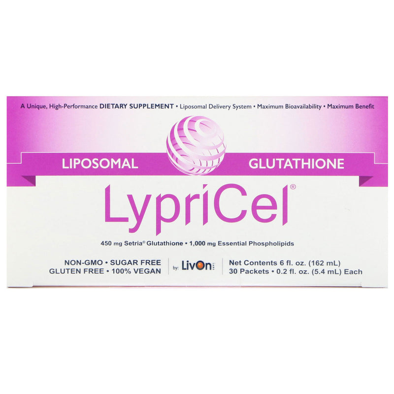 LypriCel Glutathione - 30 Packets, 0.2 fl oz (5.4 ml) Each
