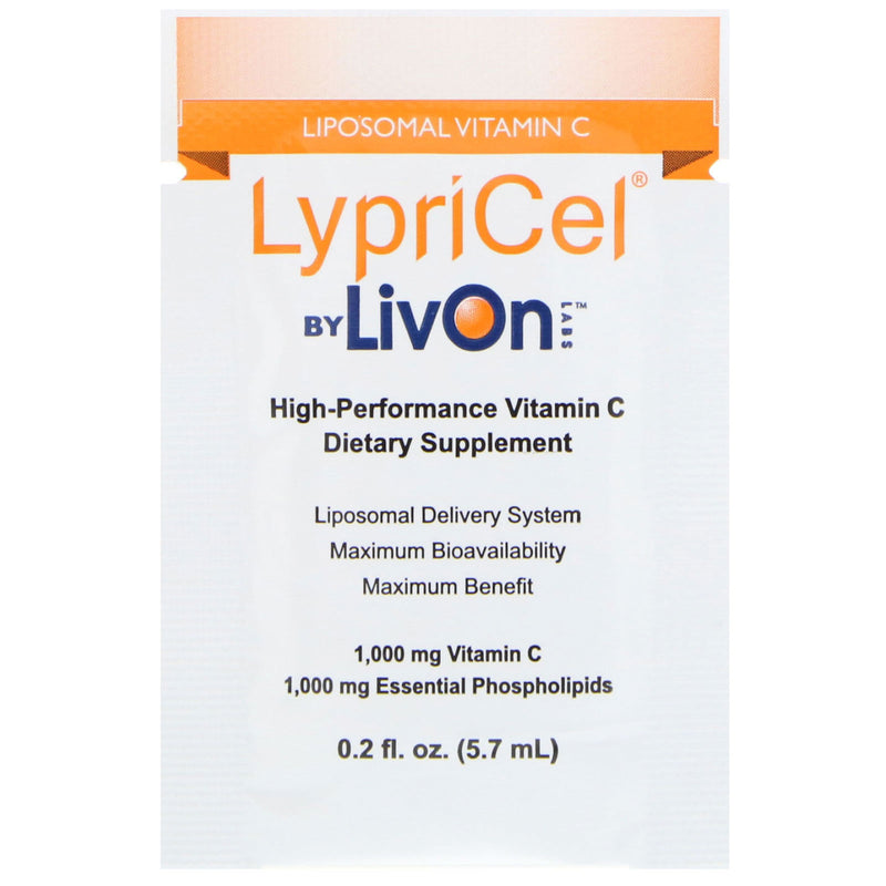 LypriCel®️ Vitamin C - 30 Packets, 0.2 fl oz (5.7 ml) Each