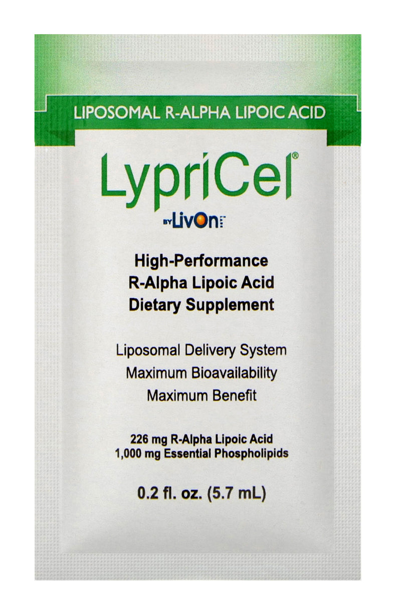 LypriCel Liposomal R-Alpha Lipoic Acid – 30 Packets, (226 mg) Each