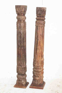 Wooden Candle Holder / Decor Pillar
