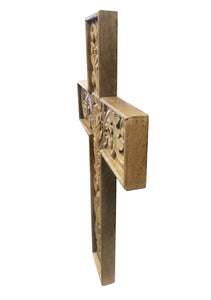 Grace Wooden Cross Natural