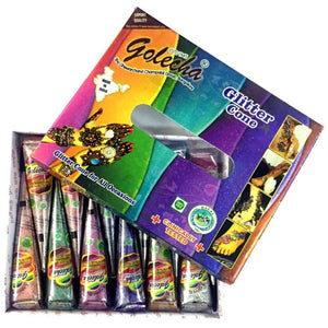 Buy Golecha Glitter Henna Cones Assorted Multi Colour Pack Uk