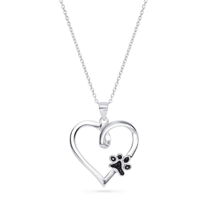 Paw Print Heart Necklace - Sidestreet
