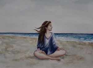 Beach Meditation WATERCOLOR