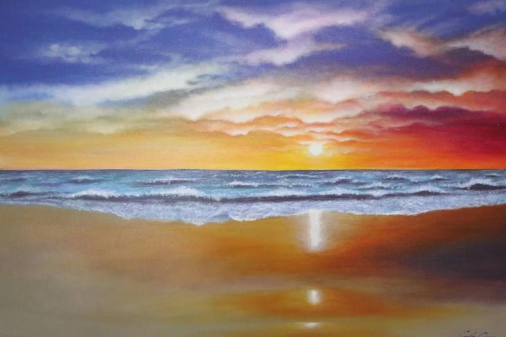 Beach of Color PAINTING