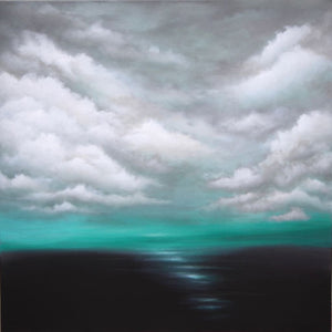 Emerald Horizon Abstract Painting