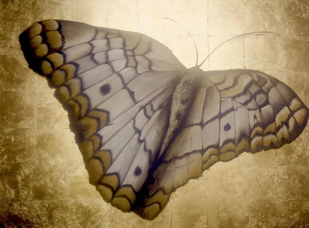 Gold Butterfly PAINTING