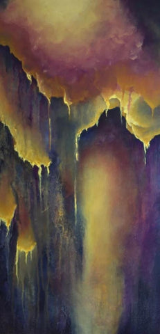 Nectar Caverns ABSTRACT PAINTING