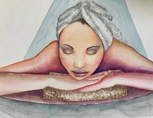 Spa Day Watercolor WATERCOLOR