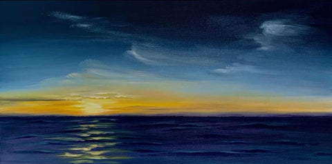 Sunset on the Sea PAINTING