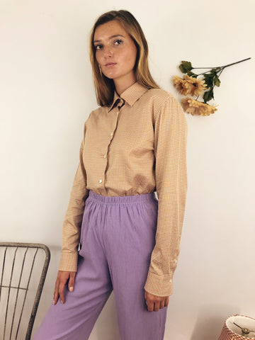 stylish outfit with vintage blouse and trouser