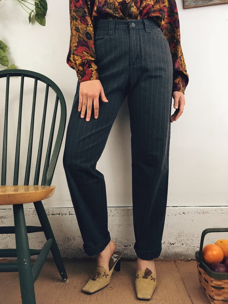 Pinstriped Railroad Trousers