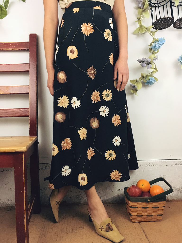 The Whimsical Floral Midi Skirt
