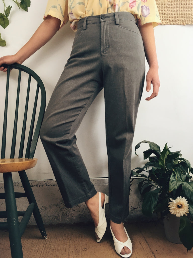 The Grey Greta Highwaisted Trouser