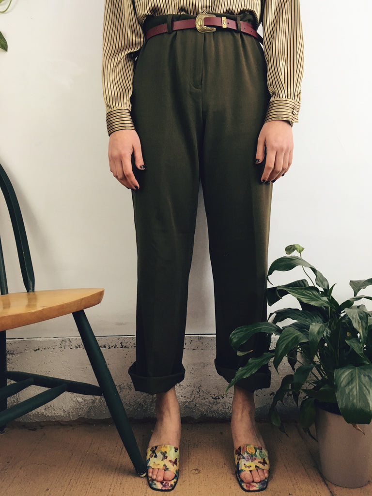 The Olivia Olive Trouser (12)