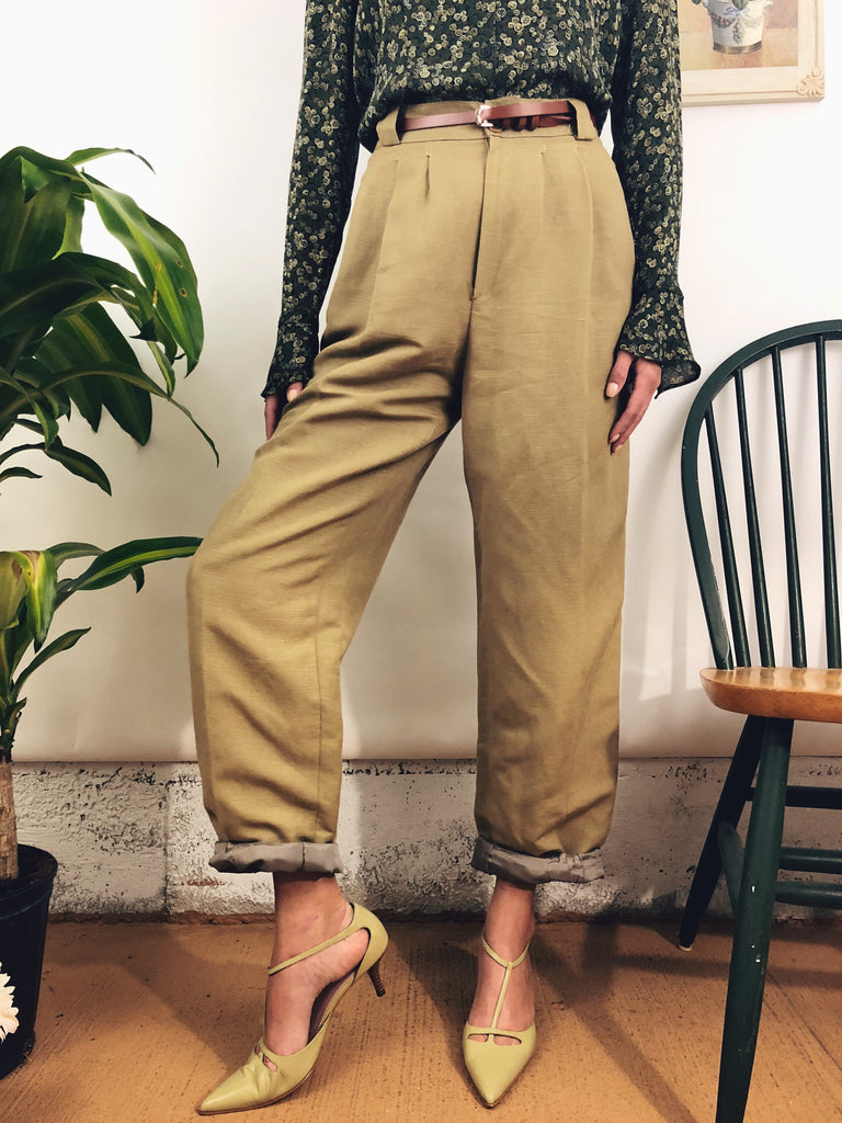 Golden Linen Trousers