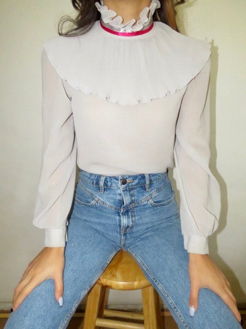 Vintage 80s Layered Blouse (S)