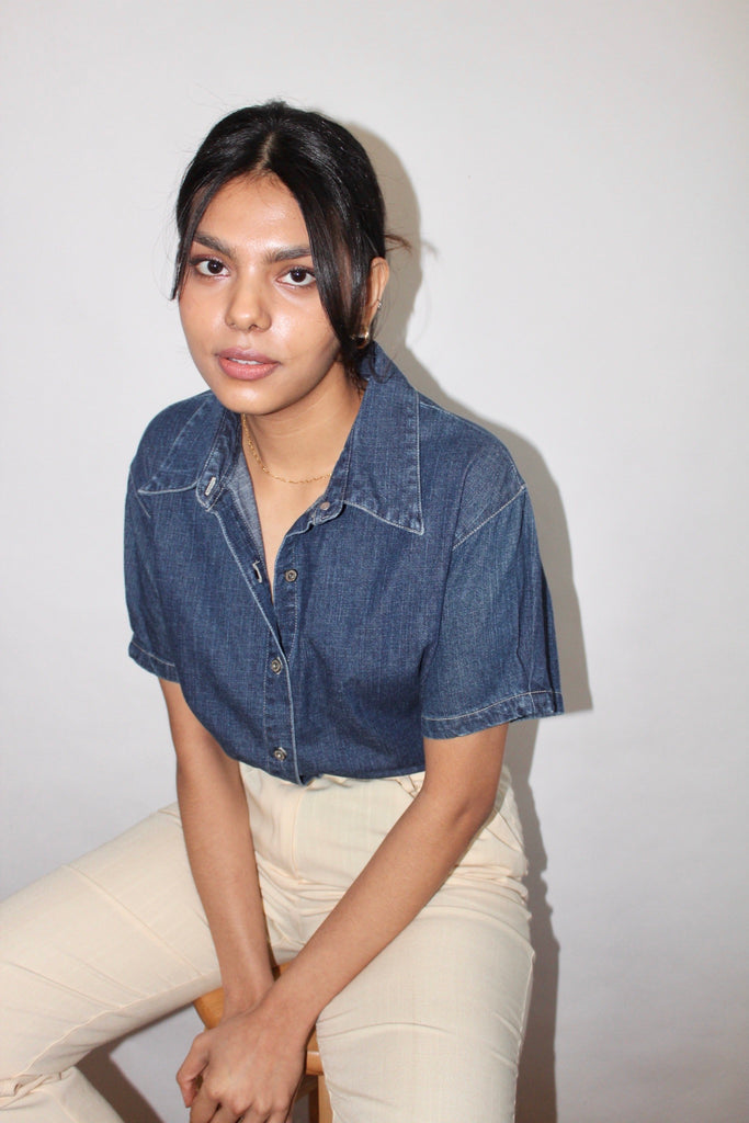 Vintage 90s Denim Top (M)