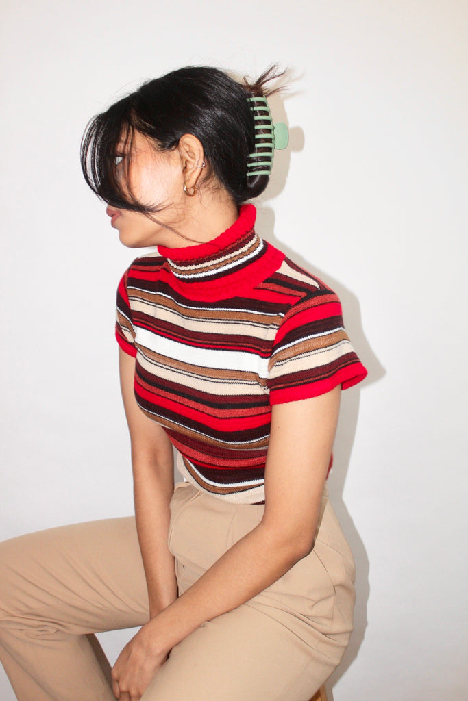 Vintage 90s Mock Neck Knit (XS-S)