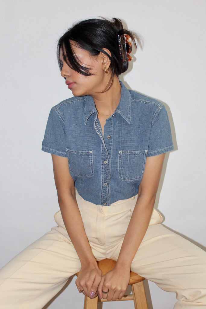Vintage 90s Denim Top (S)