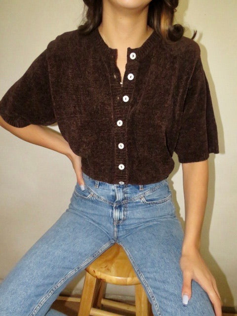 Vintage Oversized Chocolate Knit (M)