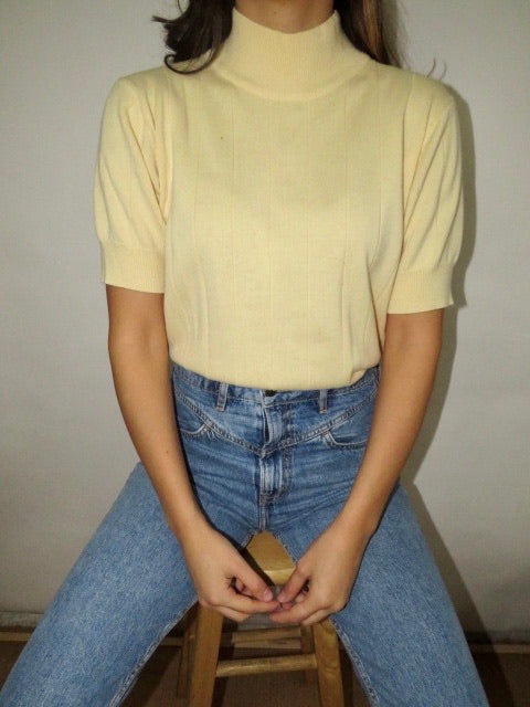 Vintage Ribbed Banana Knit (M)