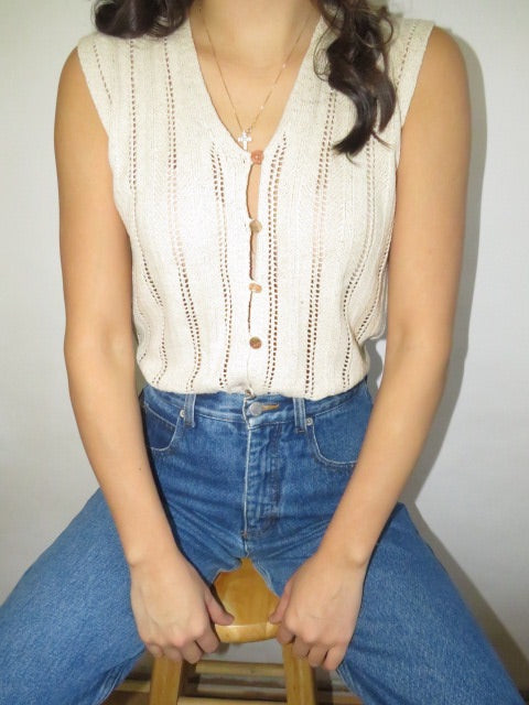 Vintage 90s Classic Silk Ribbed Knit