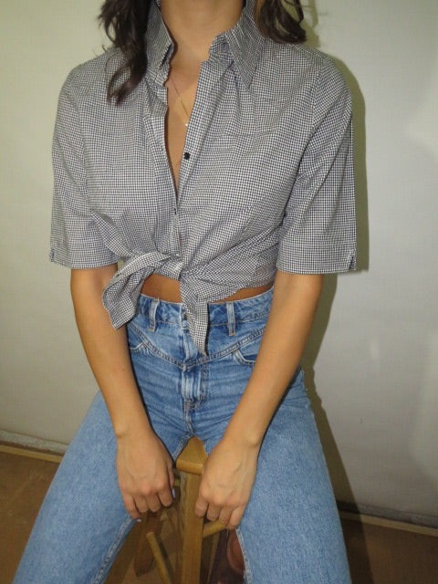 Vintage Short Sleeve Gingham (XS-S)