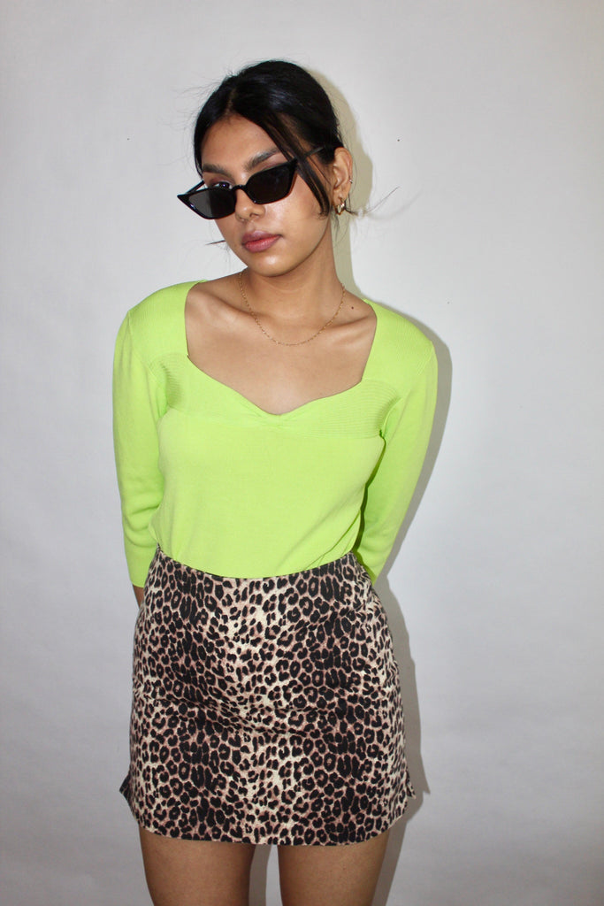 Vintage Sweetheart Lime Knit (S)