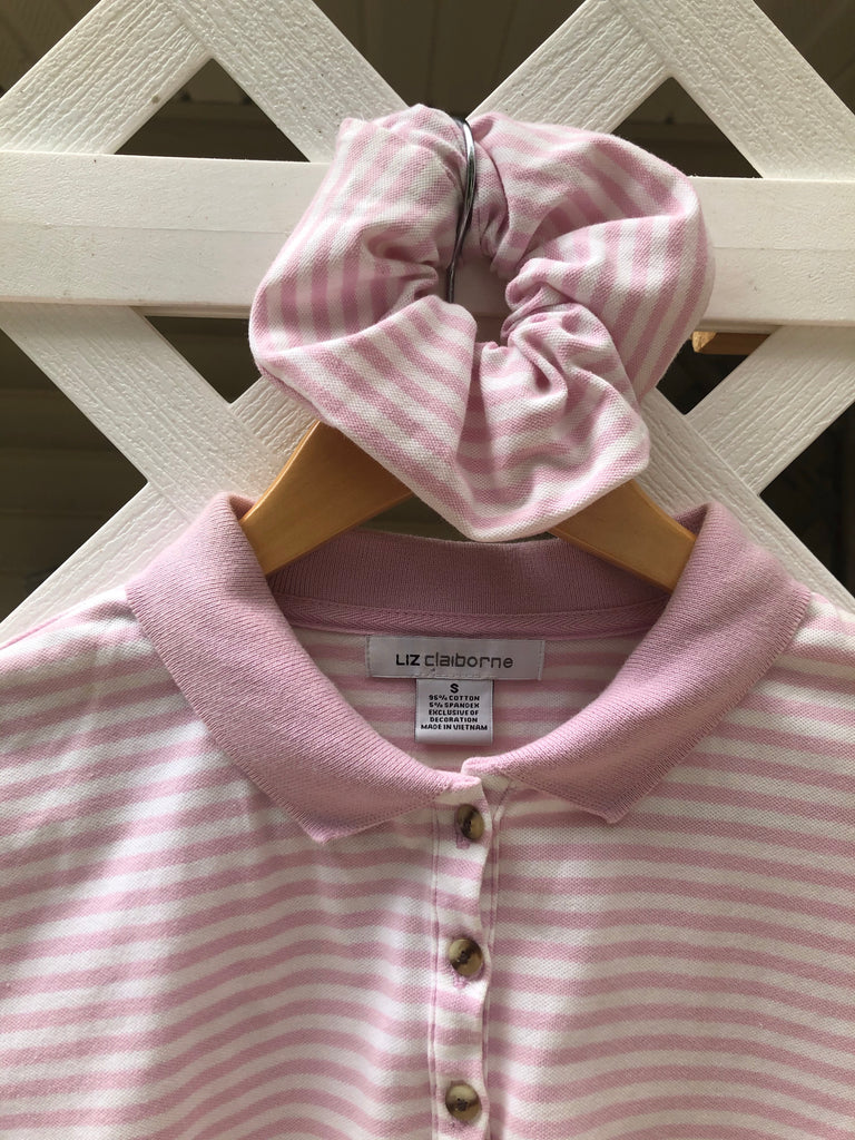 Cotton Candy Stripe Knit  with Matching Scrunchie (XS)