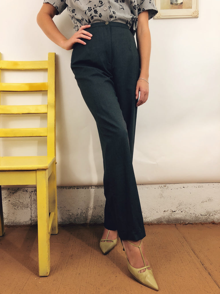 "Vintage Classic Grey Trousers (25"")"