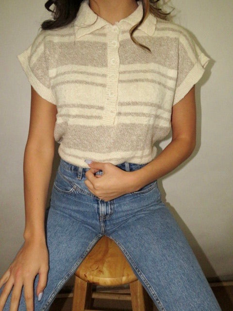 Vintage 80s Cap Sleeve Knit (One Size)
