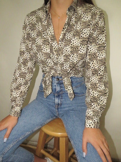 Vintage Exotic Blouse (S-M)