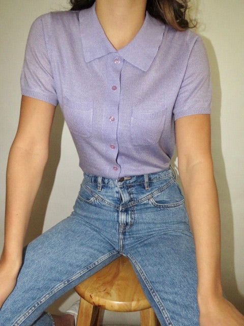 Vintage Lavender Pocket Knit (S)