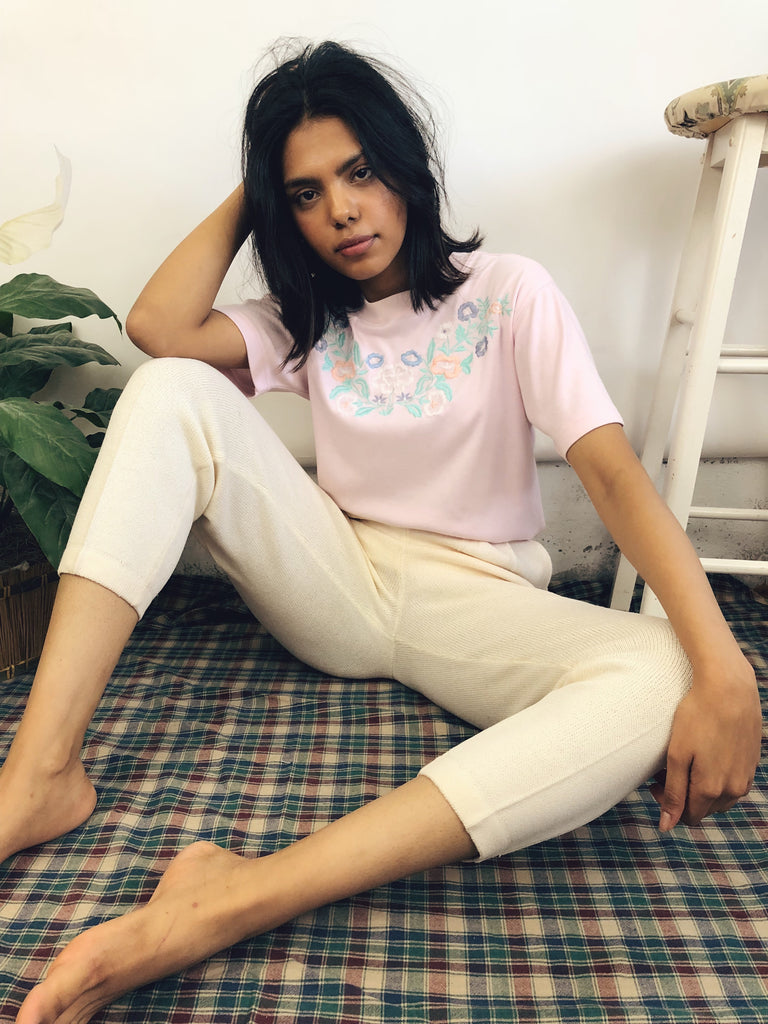 Powder Pink Embroidered Top