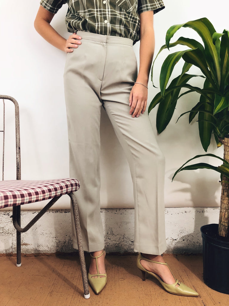 "Mint Green Highwaisted Trousers (26-27"")"