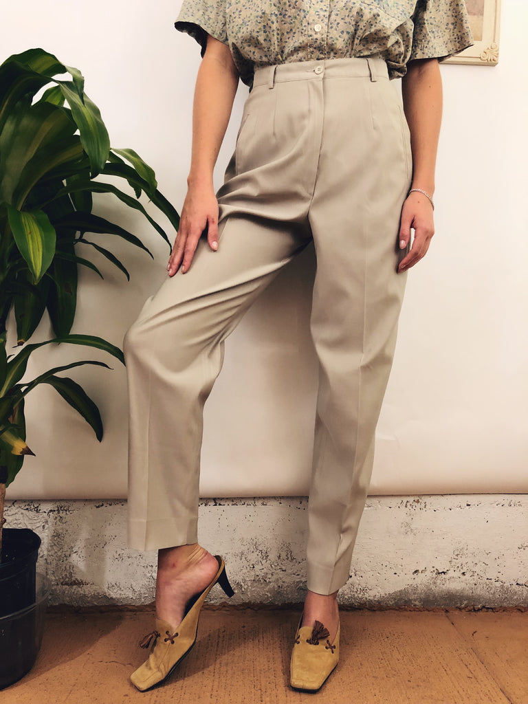 "Vintage Muted Higwaisted Trousers (26"")"