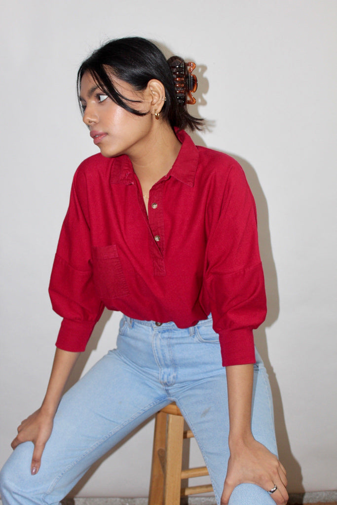 Vintage Oversized 90s Cherry Polo (S-L)