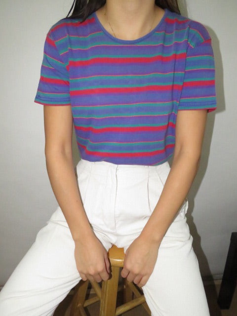 Vintage 90s Stripe Cotton Knit (S-M)
