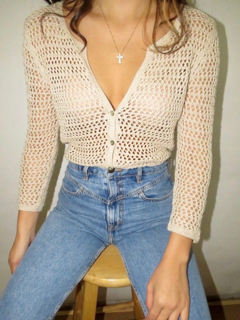 Vintage Cream Open Knit (S)