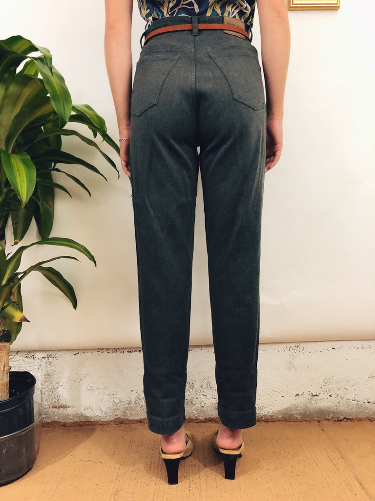 Vintage Highwaisted Charcoal Trousers (28/29)