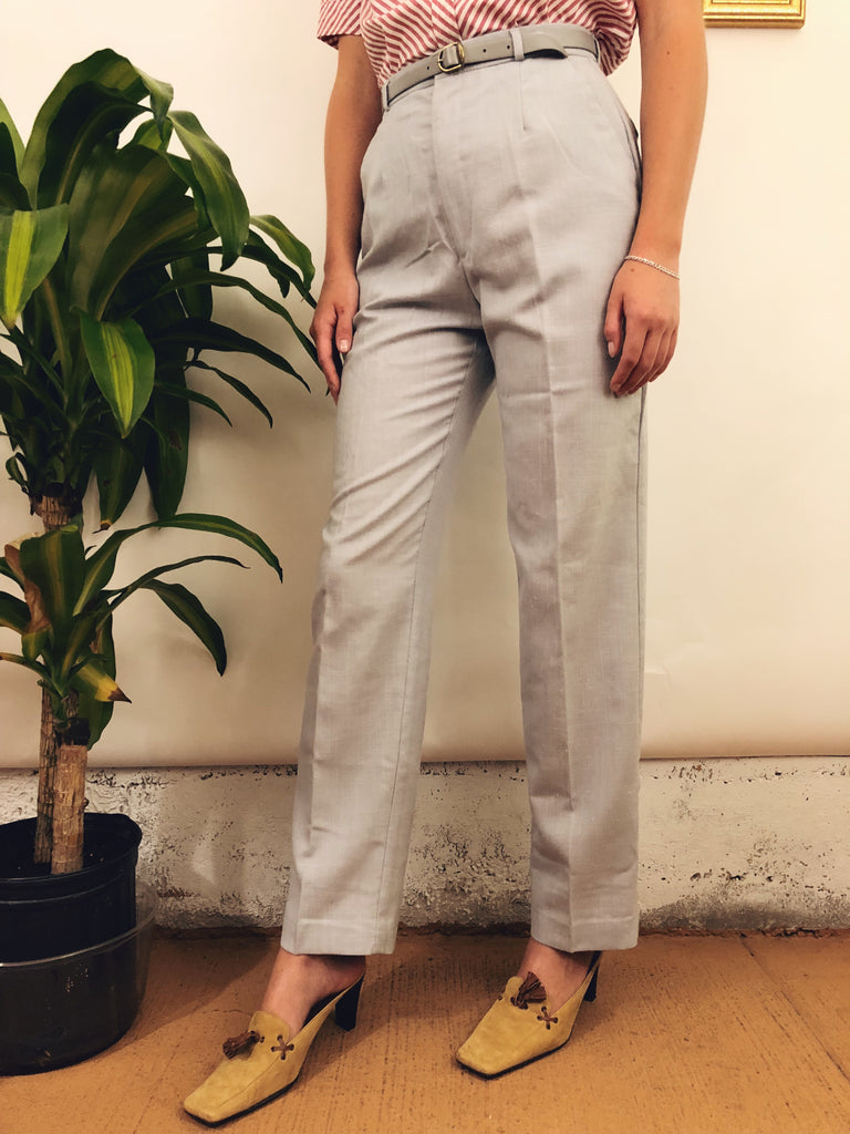 "Highwaisted Belted Trousers (25-26"")"