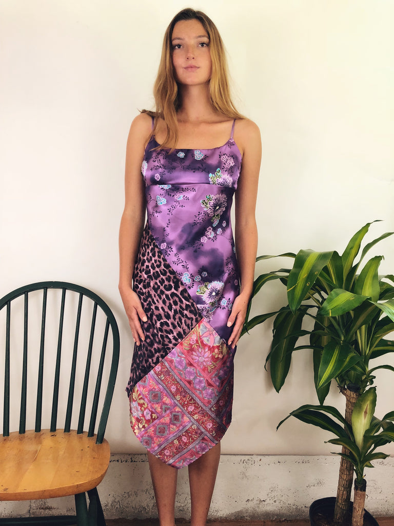 Exotic Vintage Asymmetrical Midi Dress