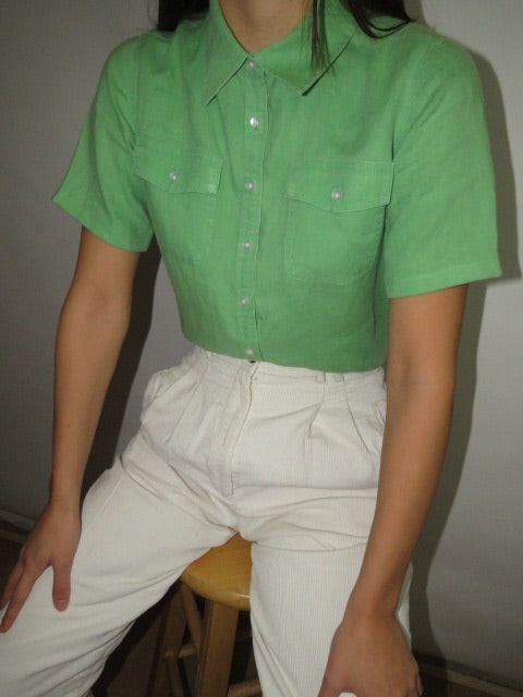 Vintage Muted Green Short Sleeve (S)