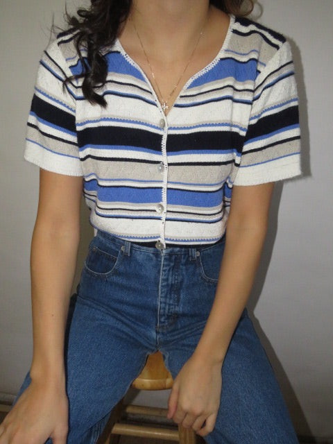Vintage Retro Stripe Knit (S-M)