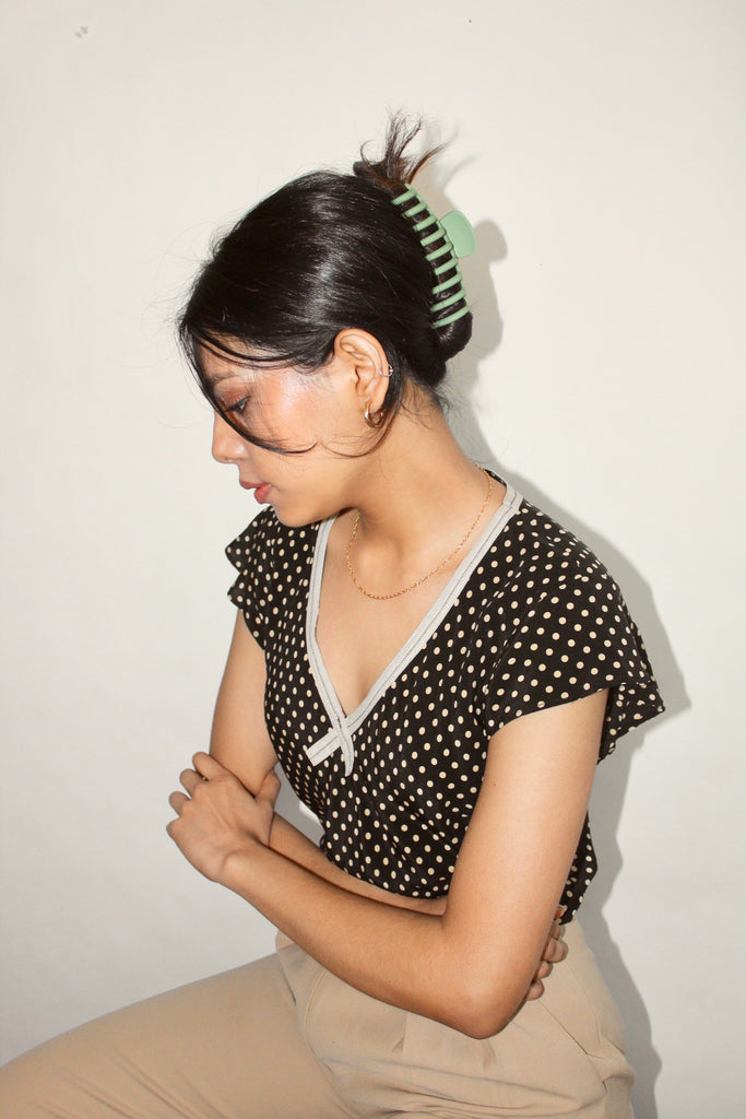 Vintage 90s Dotted Silk (S-M)