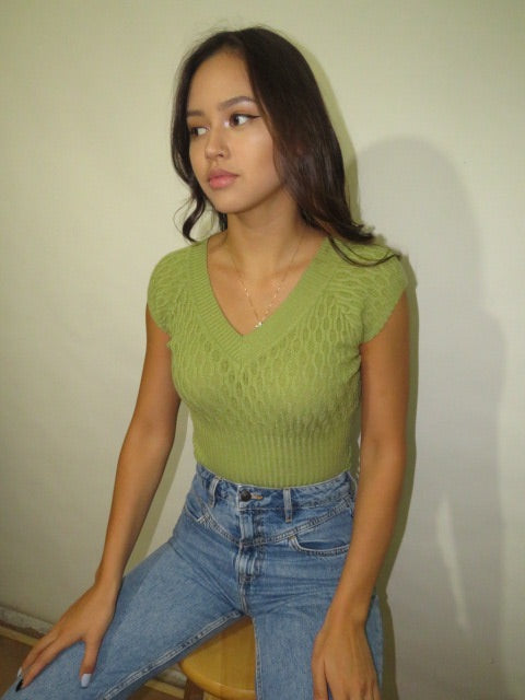 Vintage Moss Green Knit (XS-S)